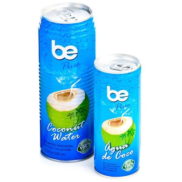 Кокосова вода, натурална, be Pure, кен