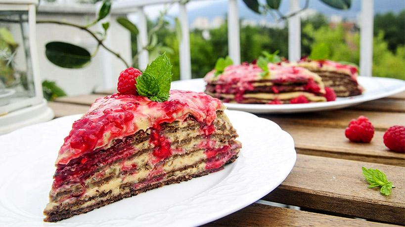 Палачинкова торта с Delishu крем