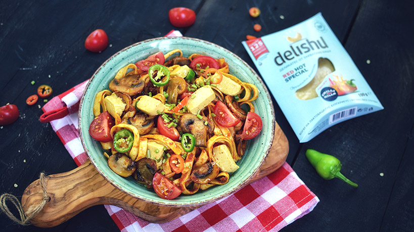 Талиатели с песто от сушени домати и Delishu RED HOT SPECIAL