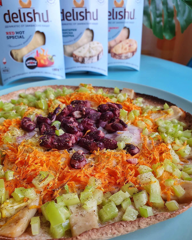 Лесни зеленчукови пици с Delishu